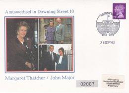 Great Britain Cover 1990 London Downing Street 10 - Amtswechsel Margaret Thatcher - John Major (G93-21) - 1952-.... (Elizabeth II)