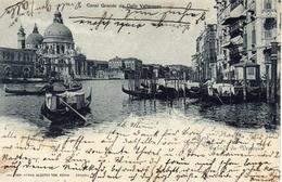 VENEZIA - Canal Grande Da Calle Vallaresso, Ed.Zanco Venezia, 9.7.1903, Mondscheinkarte - Venezia (Venice)