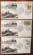 Cachets ACQUIGNY à SAINT PIERRE Du VAUVRAY 1991 Le Train Passe LOT 3 Enveloppes - Pacific 231G 558 - 1991 Cachet A EURE - Trenes