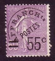 1922 Preo / Préoblitéré , Yvert N° 47, 55 C Sur 60 C Violet, Neuf (*) - 1893-1947