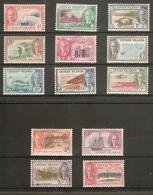 CAYMAN ISLANDS 1950 SET SG 135/147 UNMOUNTED MINT/MOUNTED MINT Cat £80 - Cayman Islands