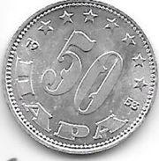 Yougoslavia 50 Para 1953  Km 429  Bu - Yougoslavie