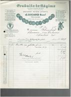 FACTURE 1935 PRODUITS DE REGIME MAISON SICARD 41 RUE DES AMIDONNIERS A TOULOUSE MOULIN A VENT - Francia