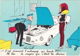 """Illustrateur RENE CAILLE """"c'est Surement L 'embrayage Qui Broute""""  (lot Pat 49) - Humor"""