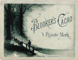 5 Chromo Cards 1870 à 1890,  Cacao Cocoa Chocolade Chocolate Blooker HORIZONTAL RR , Very Good Superb Litho Quality - Autres