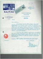FACTURE 1935 KALMINE LABORATOIRE METADIER A TOURS INDRE ET LOIRE - France