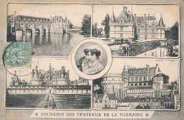 CPA - France - (37) Indre Et Loire - Souvenir Des Châteaux De La Touraine - Non Classés