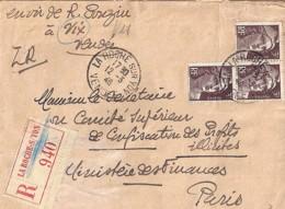 TP N° 715x3 SUR L.ETTRE REC. DE 1946 - 1945-54 Marianne De Gandon