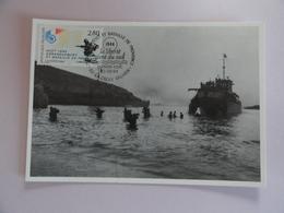 CARTE MAXIMUM CARD DEBARQUEMENT ALLIE EN PROVENCE  FRANCE - Guerre Mondiale (Seconde)