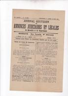 MARSEILLE / JOURNAL QUOTIDIEN DES ANNONCES JUDICIAIRES ET LEGALES / 18 JUIN 1923 - Newspapers