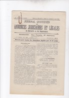 MARSEILLE / JOURNAL QUOTIDIEN DES ANNONCES JUDICIAIRES ET LEGALES / 14.15.16 ET 17 AOUT 1923 - Newspapers