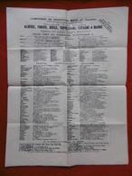COMPAGNIE DE NAVIGATION MIXTE Cie TOUACHE HORAIRES 1913 PAQUEBOTS POSTE FRANCAISE - Monde