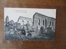 OISY -L'EGLISE DETRUITE GUERRE MONDIALE 1914-18 - France