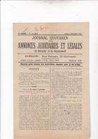 MARSEILLE / JOURNAL QUOTIDIEN DES ANNONCES JUDICIAIRES ET LEGALES / 5/11/25 - Journaux - Quotidiens