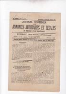MARSEILLE / JOURNAL QUOTIDIEN DES ANNONCES JUDICIAIRES ET LEGALES / 25.26 OCT 1925 - Journaux - Quotidiens