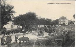 D17 - SURGERES - PLACE DU CHAMP DE FOIRE - Nombreuses Personnes-Chevaux-Charrettes - Surgères