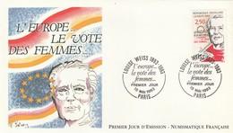 Enveloppe Premier Jour émission L'europe Le Vote Des Femmes Louise Weiss 15 Mai1993 - 1990-1999