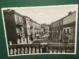 Cartolina Settimo Tornese - Via Re Umberto -  1950ca. - Italia