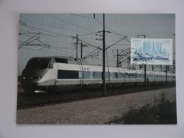 CARTE MAXIMUM CARD TGV NORD  AVEC OBLITERATION ORDINAIRE LILLE GARE  FRANCE - Trains