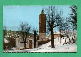 Tunisie Ain Draham Le Minaret Sous La Neige Format 9cm X 14cm ( Carte Avec Leger Pli ) - Tunisia