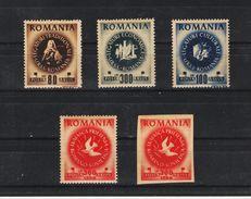 1946 - Amitie Roumano Sovietique Mi 1008/1011 A+B Et Yv 921/924  MNH - 1918-1948 Ferdinand, Carol II. & Mihai I.