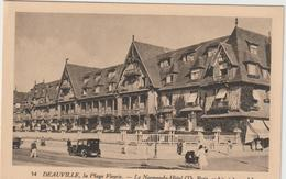 DAV : Calvados :  DEAUVILLE : La  Plage  Fleurie  , Voiture  Traction , Poussette - Deauville