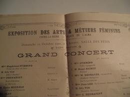 Programme, Expositions Des Arts Et Métiers Féminins, 1902, Grand  Concert - Programmes