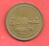 "Jeton De Golf , "" Ball O Matic "" , Niles.mi. , Michigan - Firma's"