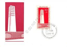 Cartolina Filatelica Nationale Mahn Und Gedenkstatte Sachsenhausen Teilansich - Cartoline