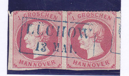 HANOVRE, N°17X2, Mi14,  Oblitéré ,LUCHOW Cote 8-11€ ( W1911/036) - Hannover