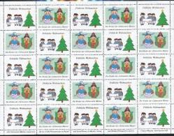 Österreich -  Vignette   - Fröhliche Weihnachten  Die Kinder Der Schwestern Maria   Postfrisch - Vignetten (Erinnophilie)