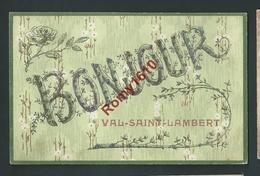 Bonjour Du Val Saint Lambert. (Liège Seraing) Carte à Paillettes. Scans Recto/verso. - Seraing