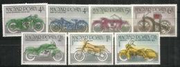 Centenaire De La Moto (Harley-Davidson,BMW,Suzuki,NSU,Daimler,etc.    7 Timbres Neufs ** - Motos