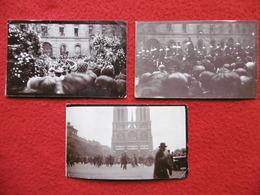 OBSEQUES DE PAUL DOUMER PHOTO 11 X 6.5 - Personnes Identifiées