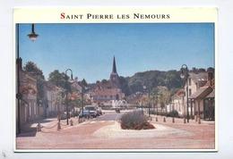 77-SAINT PIERRE LES NEMOURS -PLACE SAINT PIERRE   -RECTO VERSO B48 - Saint Pierre Les Nemours