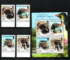 TRISTAN Da CUNHA, 2017, WWF,BIRDS- PENGUINS,4v.+M/S, MNH** - Penguins