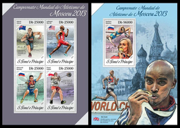 Sao Tome And Principe 2013 Athletics Klb+s/s MNH - Leichtathletik
