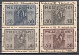 Eintrittskarte Kulturbund Der DDR Leipzig/Volkshaus-gutschein 4 Mal 50 Pfennig, Gültig Bis 30. Juni 1922(D2658) - Non Classés