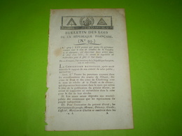 Lois An III : Dépôt Des Armes Par Les Rebelles De Vendée & Chouans. Proclamation De La Convention Nationale - Décrets & Lois