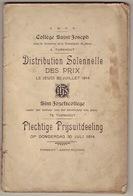 Palmares, Sint-Jozefscollege Turnhout 1914 - Diplômes & Bulletins Scolaires