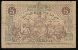 VIJF FRANK  29.12.18  2 SCANS - [ 2] 1831-... : Royaume De Belgique