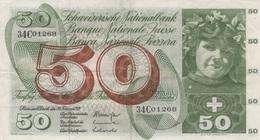 (B0229) SWITZERLAND, 1971. 50 Franken. P-48k. VG+/F - Suisse