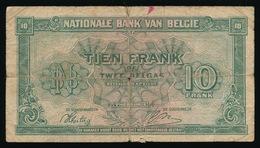 10 FRANK  OF 2 BELGAS  01.02.43  2 SCANS - [ 2] 1831-... : Royaume De Belgique