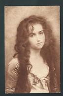 Trè Jolie Fillette Aux Longs Cheveux. - Portraits