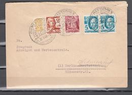 Württemberg 1949,Mi 28,2x30,32 Auf Brief Mit Zwangzuschlagmarke 3b Hellorangegelb(D2659) - Zone Anglo-Américaine
