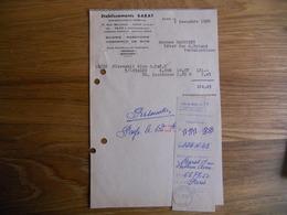 FACTURE ETABLISSEMENT BARAT SCIERIE RABOTERIE COMMERCE DE BOIS AVON FONTAINEBLEAU 17 RUE BELLEVUE BON ETAT - 1950 - ...