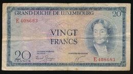 GRAND DUCHE DE LUXEMBOURG  VINGT FRANCS    2 SCANS - Luxembourg