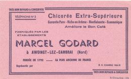 BU 1607-/  BUVARD    CHICOREE  MARCEL GODARD  AWOINGT LEZ CAMBRAI - Café & Thé