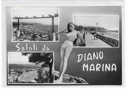 CARD DIANO MARINA    PIN-UP IN BICHINI SALUTI DA .....VEDUTINE  (IMPERIA)-FG-N -2-  0882-28629 - Imperia
