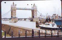 Télécarte Japon ANGLETERRE (295) GREAT BRITAIN Related * ENGLAND Phonecard Japan * TOWER BRIDGE * LONDON - Paysages